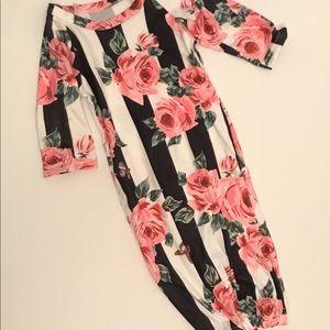 Rose stripe sleep gown